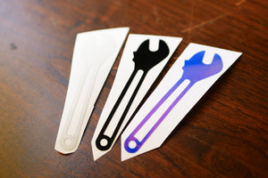 Hizoku Wrench Color Die Cut Vinyl Sticker