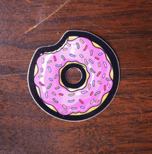 Mini Donut Color Die Cut Vinyl Sticker
