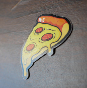Pizza Slice Color Die Cut Vinyl Sticker