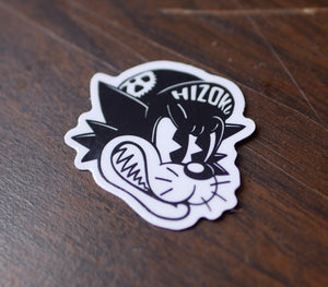 Alley Cat Color Die Cut Vinyl Sticker