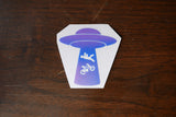 UFO Bike Abduction Vinyl Decal