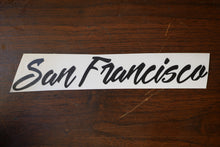 San Francisco Vinyl Decal