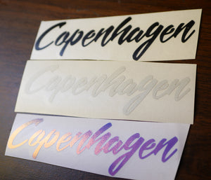 Copenhagen Vinyl Decal