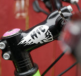 Flaming Cyclist Skull Vinyl Decal