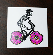 Donut Delivery Color Die Cut Vinyl Sticker