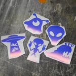 Alien 5 Pack of Vinyl Decals