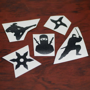 Limited Edition Ninja 5 Pack of Vinyl Bike Decals