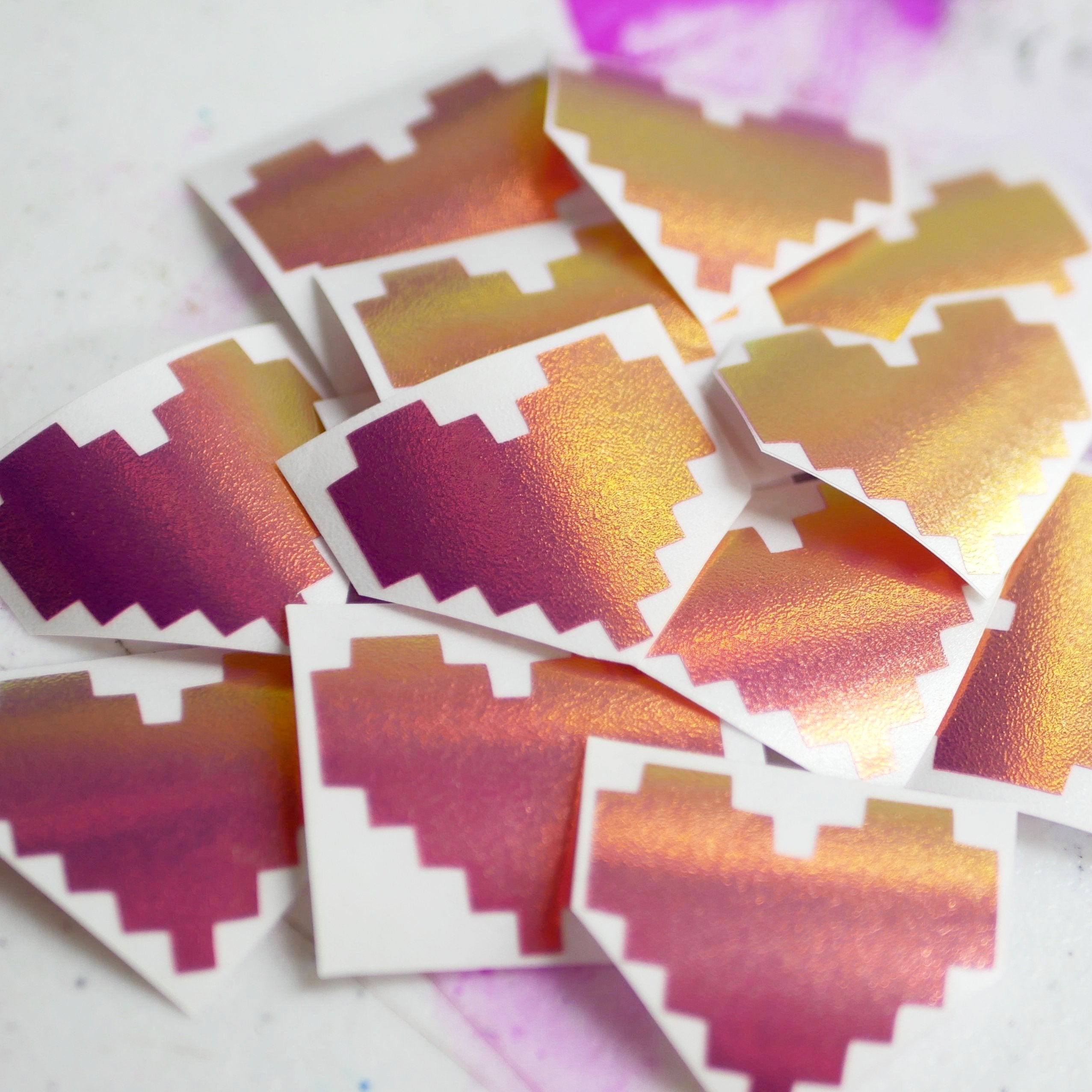 Limited Edition Pixel Heart Vinyl Decal (only 16 left)