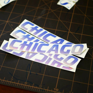 Limited Edition Chicago Vinyl Decal
