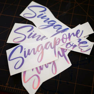 Limited Edition Singapore Vinyl Decal