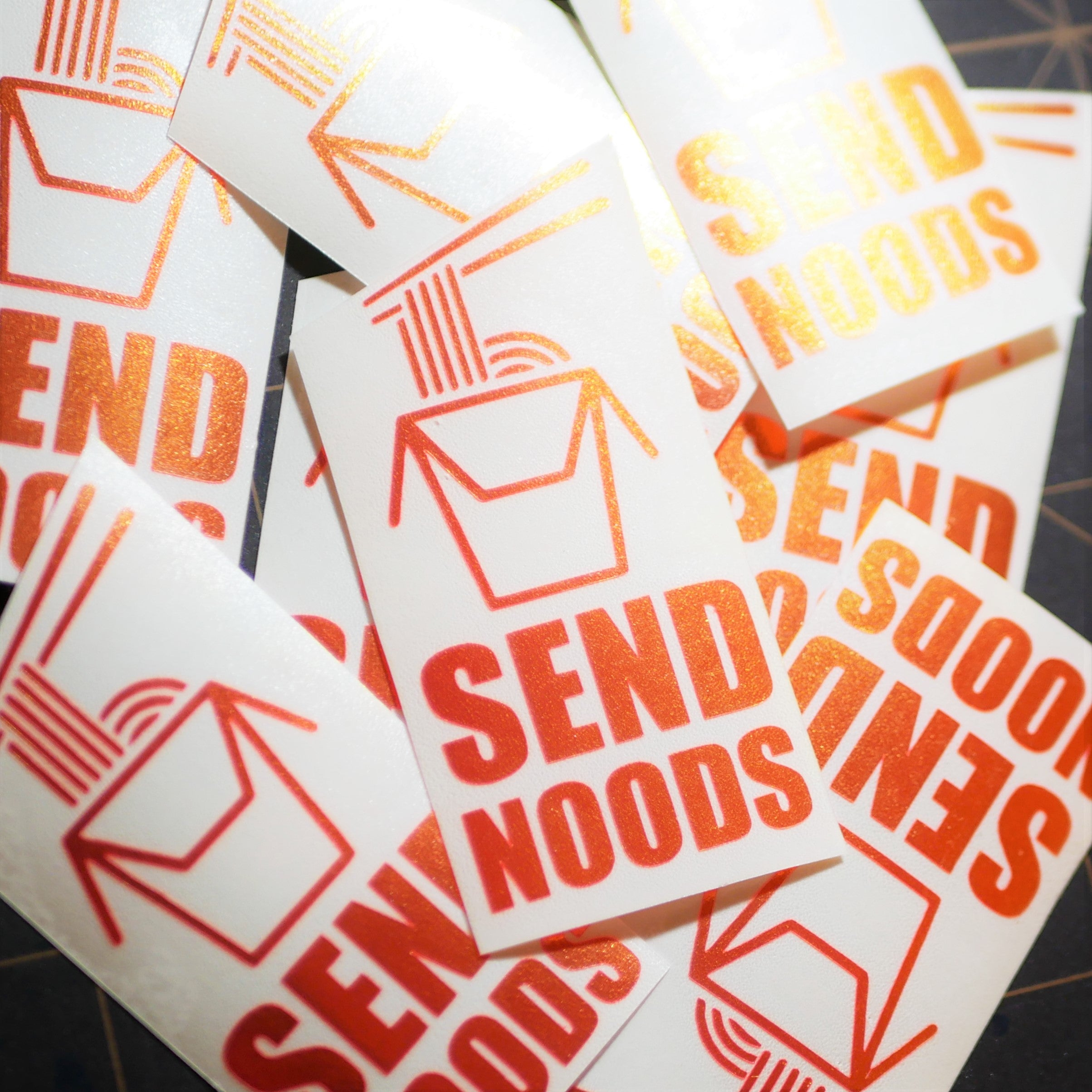 Limited Edition Send Noods Vinyl Decal
