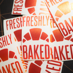 Limited Edition Freshly Baked Vinyl Decal