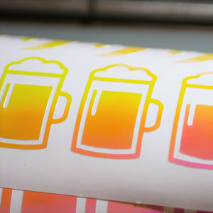 Limited Edition Beer Mug Vinyl Decal
