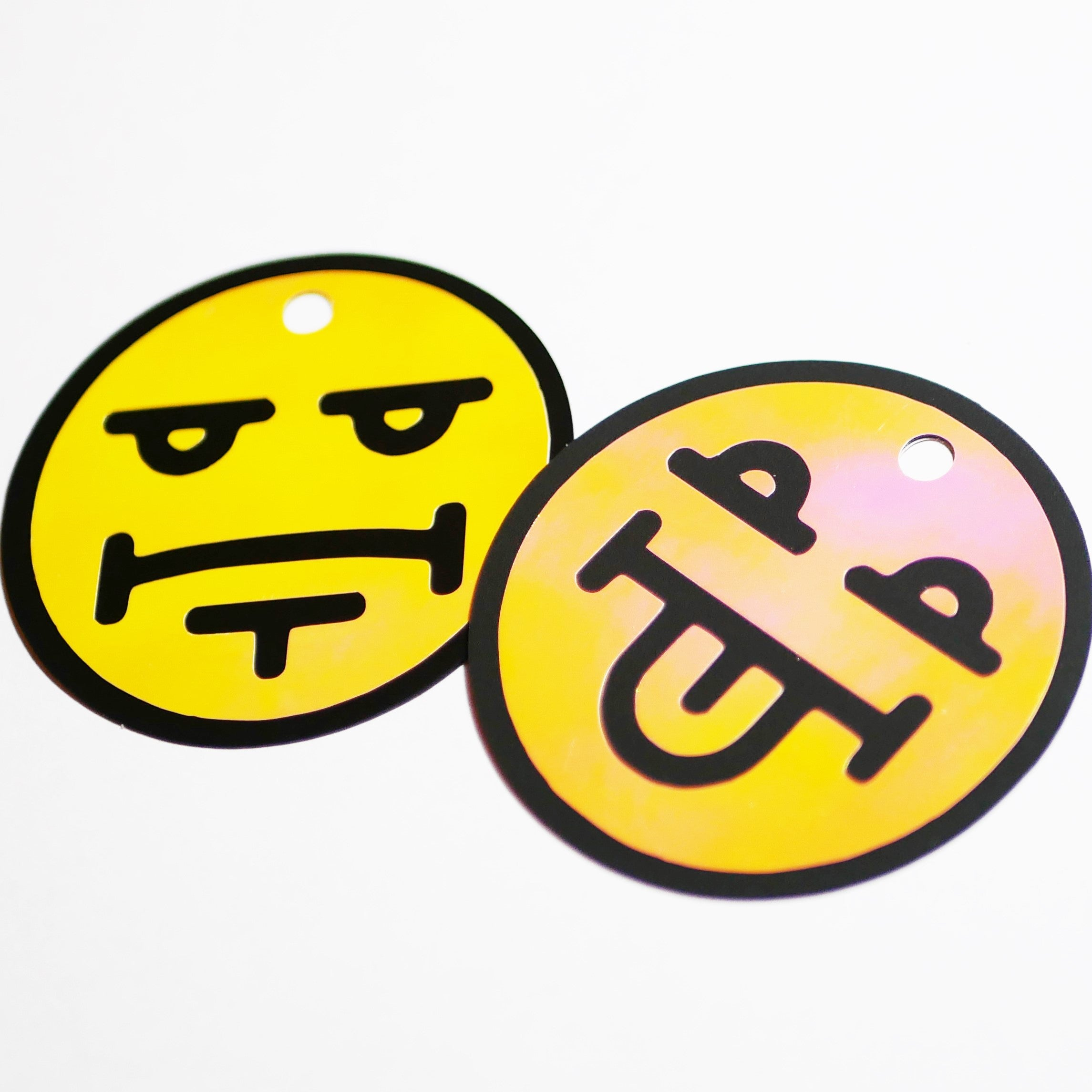 "Limited Edition 2.5x2.5"" Double-sided Emoji Holographic Reflector"