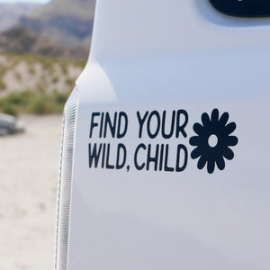 Limited Edition Wild Child Vinyl Bumper Sticker