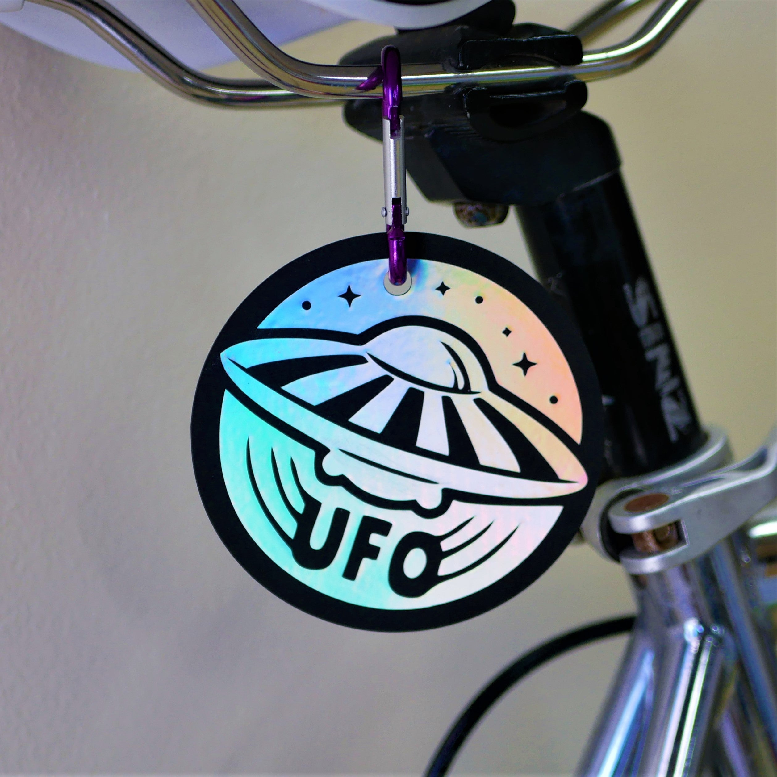 "Limited Edition 3.5x3.5"" UFO Rainbow Holographic Reflector"