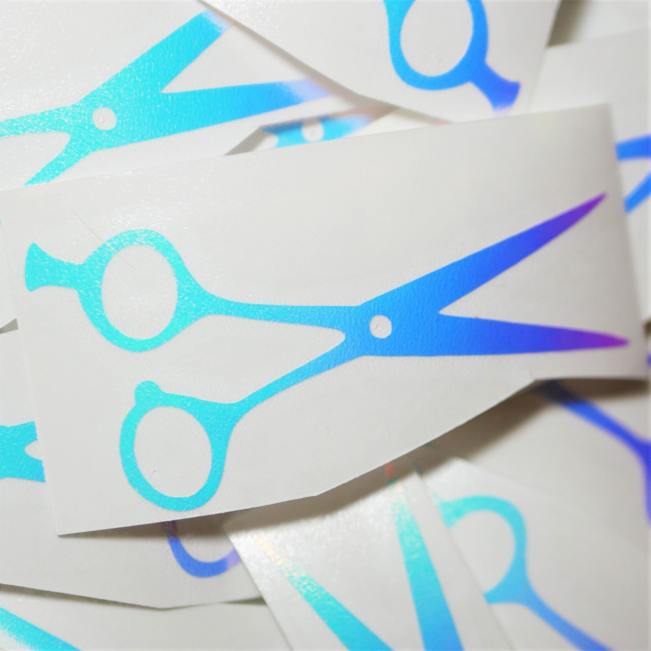 Limited Edition Scissors Vinyl Decal