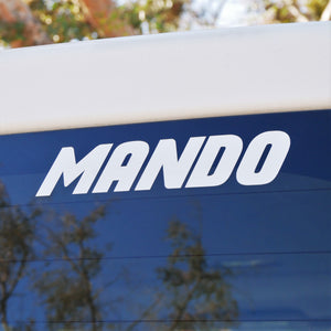 "Limited Edition ""MANDO"" Vinyl Decal"
