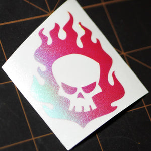 "Limited Edition ""Fire Skull"" Vinyl Decal"