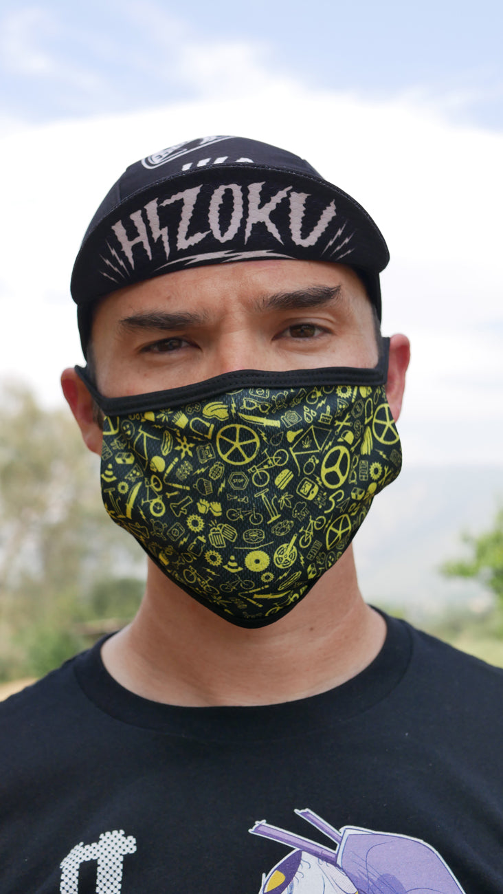 Bike Life Pattern Mask
