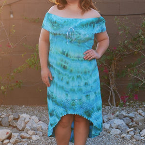 Sea Spice Cotton Dress - Hand Tie-Dyed