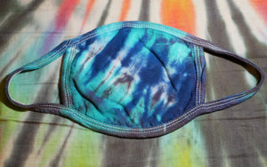 """Blue Dream"" Tie-Dye Cotton Face Mask (Limited Quantity)"