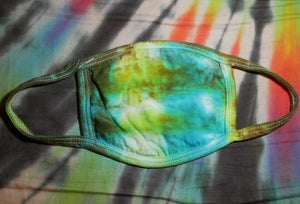 """Underwater"" Tie-Dye Cotton Face Mask"