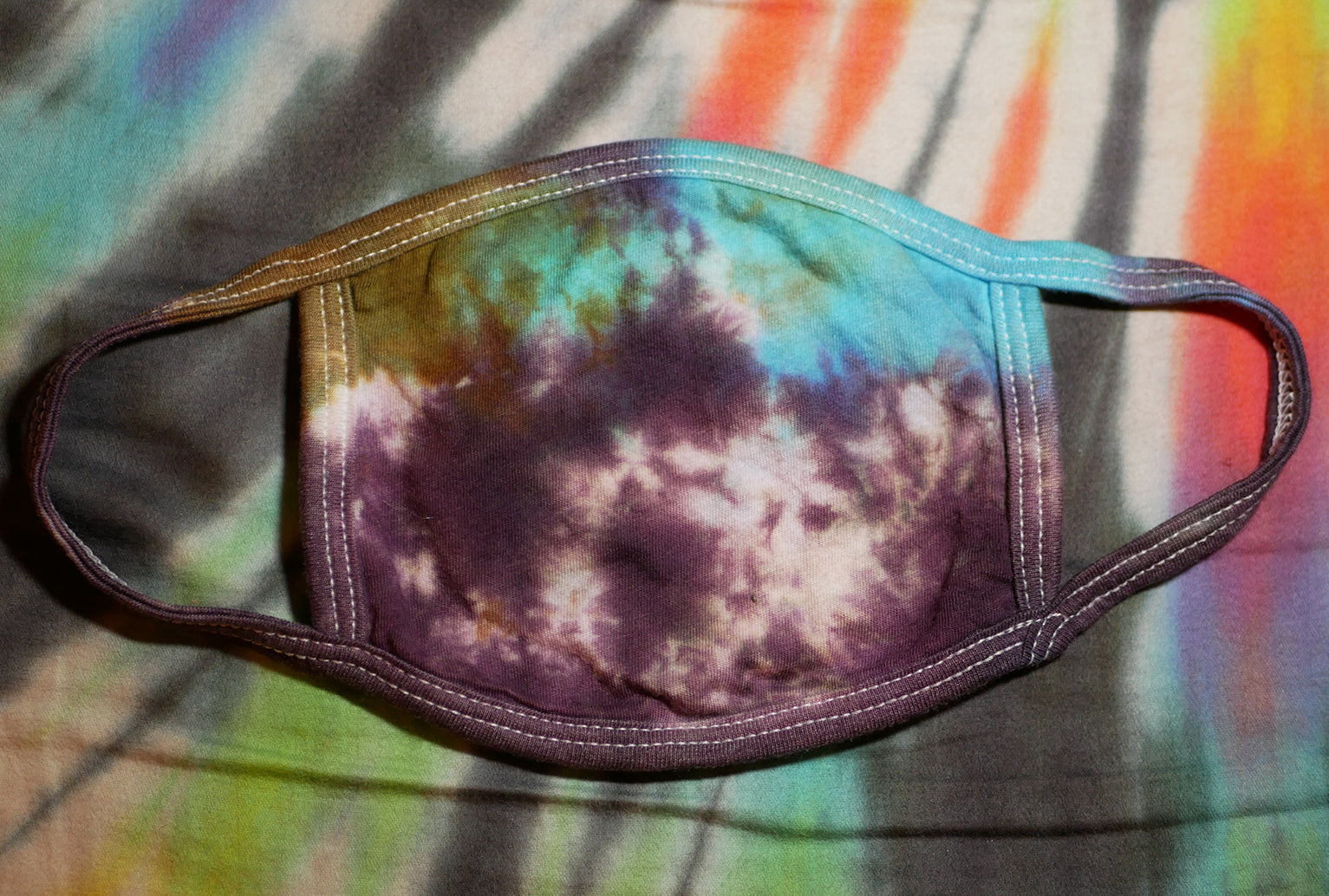 """Peanut Butter & Jelly"" Tie-Dye Cotton Face Mask"