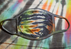 """Jungle Camo"" Tie-Dye Cotton Face Mask"