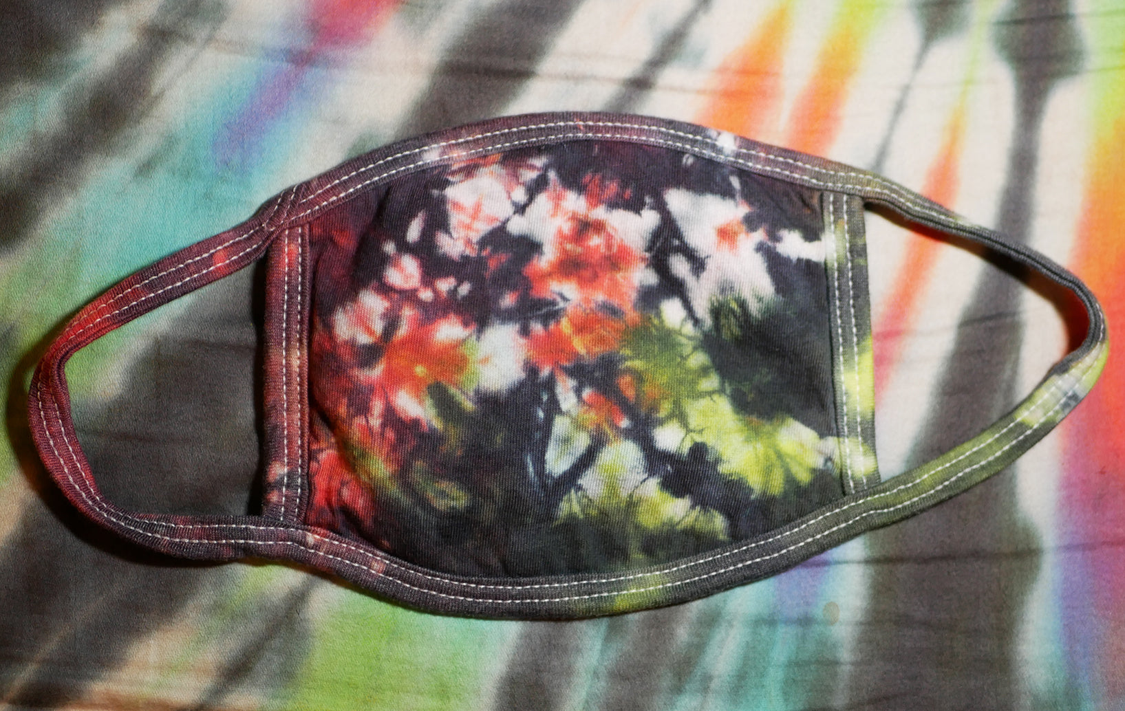 """Fireworks"" Tie-Dye Cotton Face Mask"
