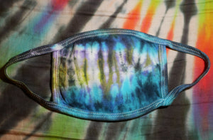 """Ocean Sunset"" Tie-Dye Cotton Face Mask"