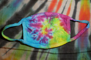 """Candy Spiral"" Tie-Dye Cotton Face Mask"