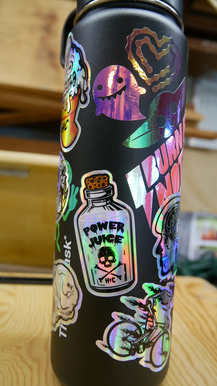Holo Power Juice Vinyl Waterproof Sticker