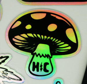 Holo Mushroom Vinyl Waterproof Sticker