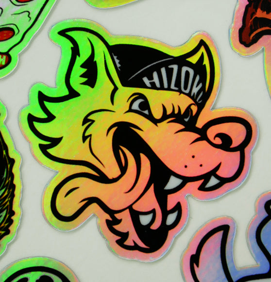 Holo Wolfy Vinyl Waterproof Sticker