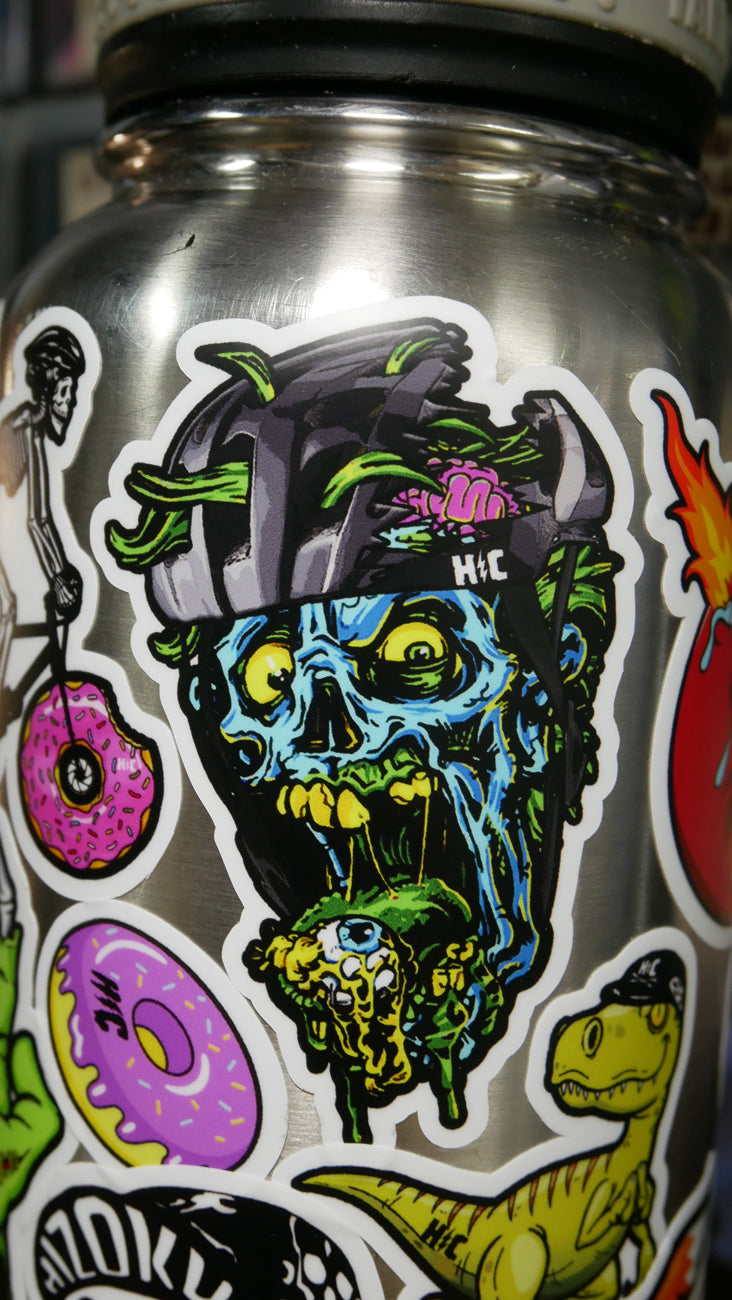 Color Blue Zombie Sticker