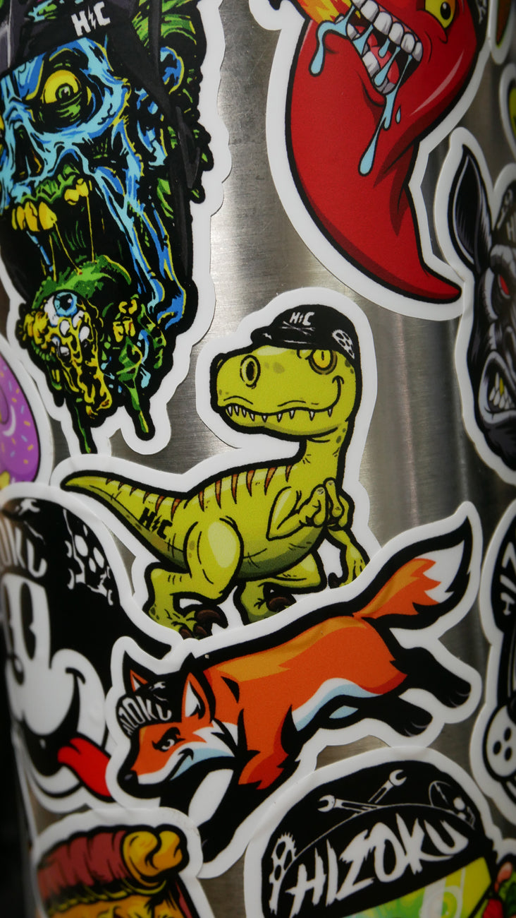 Color Velociraptor Sticker