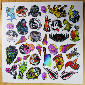 Color 12in X 12in Vinyl Sticker Sheet 28 Pack