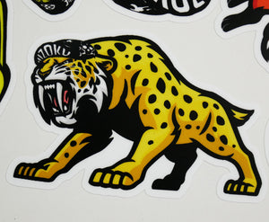 Color Sabretooth Tiger Sticker