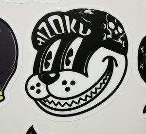 Color Smiley Cat Sticker