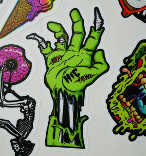 Color Zombie Hand Sticker