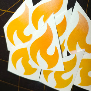 "Limited Edition ""Flame"" Vinyl Decal"