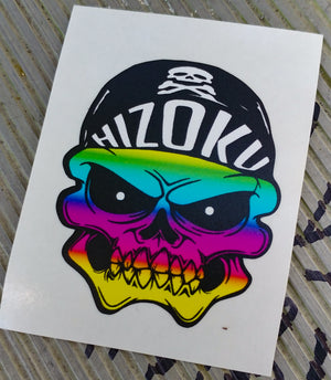 Rainbow Skull Color Die Cut Vinyl Sticker