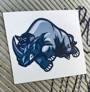 Rhino Color Die Cut Vinyl Sticker