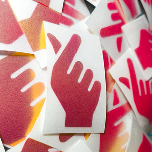 "Limited Edition ""Finger Heart"" Vinyl Decal"
