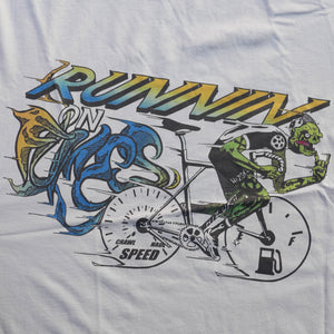Runnin On Fumes Color Print Sand T