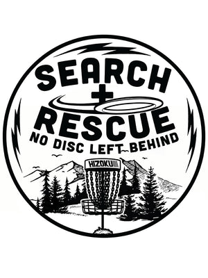 Limited Edition Search and Rescue Disc Golf 13 x 19 Poster Print
