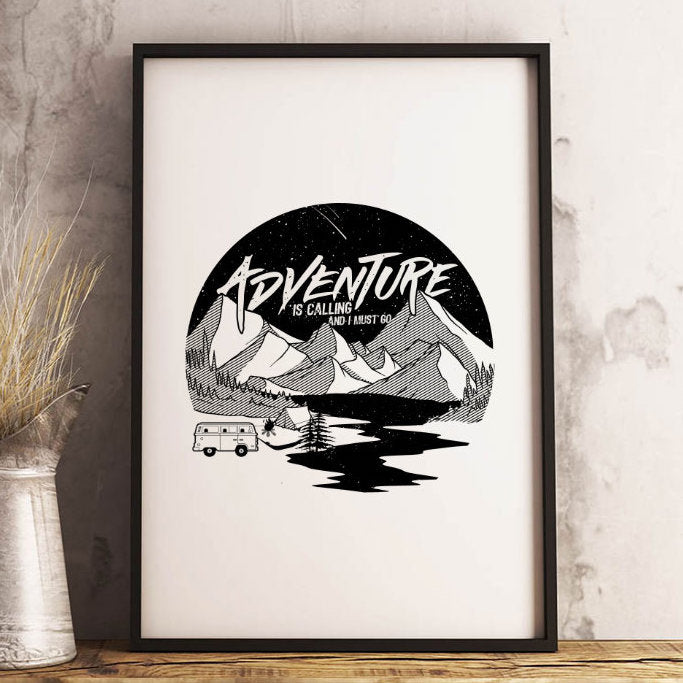 Adventure Is Calling 13 x 19 Poster Print