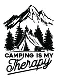 Camping Is My Therapy 13 x 19 Poster Print