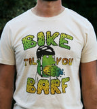 """Bike til you Barf"" Color Print Sand T"